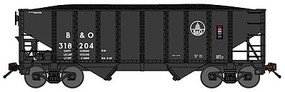 Bluford 8-Panel 2-Bay Open Hopper w/Load 2-Pack - Ready to Run Baltimore & Ohio (1960s black, Capitol Dome Logo) - N-Scale