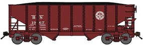 Bluford 8-Panel 2-Bay Open Hopper w/Load Ready to Run Birmingham Southern (Boxcar Red) N-Scale