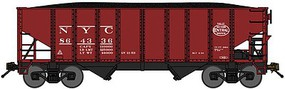 Bluford 8-Panel 2-Bay Open Hopper w/Load 3-Pack - Ready to Run New York Centra (Boxcar Red, black, System Logo) - N-Scale