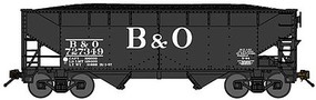 Bluford 2-Bay Offset-Side Hopper w/Load 2-Pack - Ready to Run Baltimore & Ohio (black, Billboard B&O) - N-Scale