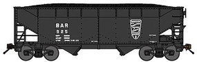 Bluford 2-Bay Offset-Side Hopper w/Load - Ready to Run Bangor & Aroostook (black, Shield Logo) - N-Scale