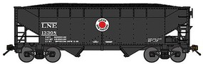 Bluford 2-Bay Offset-Side Hopper w/Load 2-Pack - Ready to Run Lehigh & New England (black, white, red, Fried Egg Logo) - N-Scale