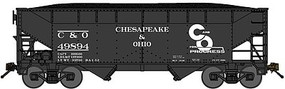 Bluford 2-Bay Offset-Side Hopper w/Load 2-Pack Ready to Run Chesapeake & Ohio (Post-1948, black, Progress Logo, Spelled-Out Roadname) N-Scale