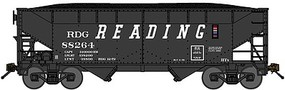 Bluford 2-Bay Offset-Side Hopper w/Load 3-Pack Ready to Run Reading (black, Speed Lettering) N-Scale