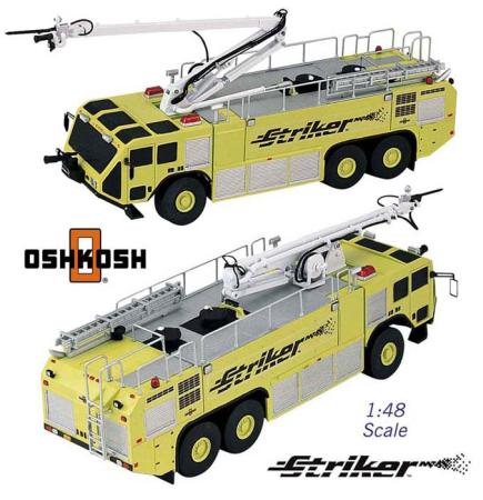 Boley Corporation 1/48 Oshkosh Striker 3-Axle Yellow