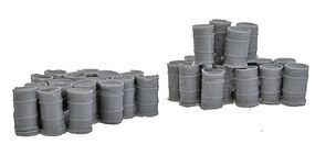 Assorted 55-Gallon Drums 2 Large Groups N Scale Model Railroad Building Accessory #1002
