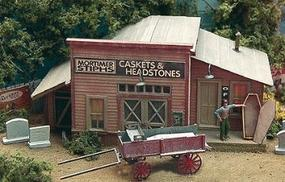 Bar-Mills Mortimer Stiphs Caskets & Headstones HO Scale Model Railroad Building #122