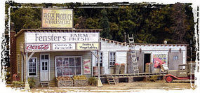 Bar-Mills Fensters Farm Fresh Market - Kit - 10 25.4cm Long HO Scale Model Railroad Building #142
