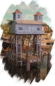 Bar Mills Raquette Lake Navigation Company Kit -- HO Scale Model Railroad Building -- #162