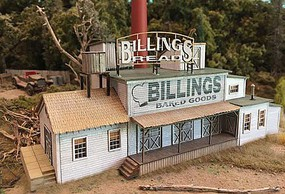 Bar-Mills Billings Bakery Laser-Cut Wood Kit - N-Scale