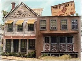 Bar-Mills Witzingers Washboard Co. (False Front Structure Kit) HO Scale Model Railroad Building #172