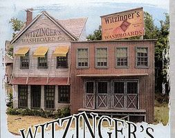Bar-Mills Witzinger's Washboards Kit 11 x 3-3/4'' 27.9 x 9.5cm O Scale Model Railroad Building #174