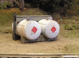 Bar-Mills Horizontal Fuel Tanks - Kit pkg(2) N Scale Model Railroad Building Accessory #2002