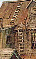 Bar-Mills Wood Ladders - Kit - 1-Story Tall pkg(4) HO Scale Model Railroad Building Accessory #2016