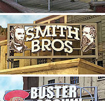 Bar-Mills Billboards Pack #3 Kit HO Scale Model Railroad Billboard Sign #242