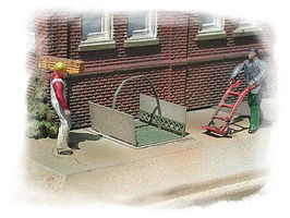 Bar-Mills Street Elevator Sets (Photo-Etched Metal Kit) N Scale Model Railroad Building Accessory #301