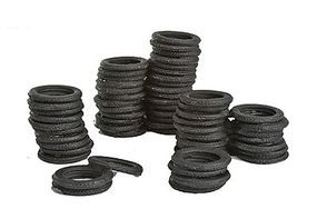 Bar-Mills Tire Stacks - Unpainted O Scale Model Railroad Building Accessory #4012