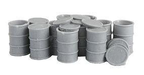Bar-Mills 55-Gallon Drums w/Open Tops - Unpainted O Scale Model Railroad Building Accessory #4015