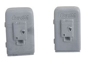 Bar-Mills Soda Machines - Unpainted pkg(2) O Scale Model Railroad Building Accessory #4016