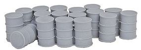 Bar-Mills 55-Gallon Drums w/Closed Tops - Unpainted O Scale Model Railroad Building Accessory #4017