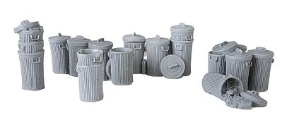Bar Mills Garbage Pails - Unpainted (18) -- O Scale Model Railroad Building Accessory -- #4022