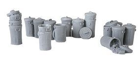 Bar-Mills Garbage Pails Unpainted (18) O Scale Model Railroad Building Accessory #4022