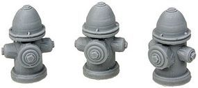 Fire Hydrants - Unpainted pkg(3) O Scale Model Railroad Building Accessory #4026