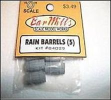 Bar-Mills Rain Barrels 5 pack O Scale Model Railroad Building Accessory #4029