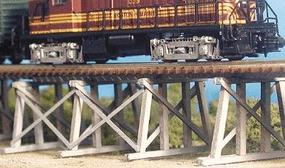 Bar-Mills Low Boy Trestle - Kit (Laser-Cut Wood) HO Scale Model Railroad Bridge #404