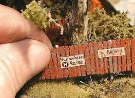 Bar-Mills Insta-Fence Kit Approx 160 Scale Feet HO Scale Model Railroad Building Accessory #42