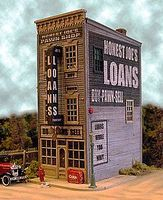Bar-Mills Honest Joes Pawn & Loan - Kit HO Scale Model Railroad Store #442