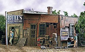 Bar-Mills Bulls Salvage - Kit - 5 x 7 12.7 x 17.7cm HO Scale Model Railroad Building #452