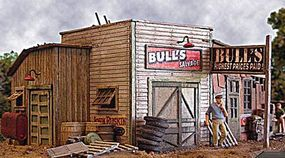Bar-Mills Bulls Salvage - Kit - 4-3/4 x 4 12.1 x 10.2cm O Scale Model Railroad Building #454