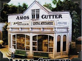 Bar-Mills Amos Cutter General Merchandise - Kit HO Scale Model Railroad Building #462