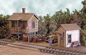 Bar-Mills Cranberry Yard Freight House - Kit HO Scale Model Railroad Building #482