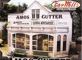Bar-Mills Amos Cutter General Merchandise - Kit O Scale Model Railroad Building #504