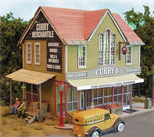 Bar-Mills Curry Merchantile - Laser-Cut Wood Kit HO Scale Model Railroad Building #562