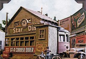 Bar-Mills Star Diner - Kit HO Scale Model Railroad Building #602