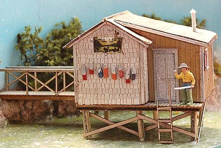 Bar Mills The Fishing Shack At Cozy Cove - Kit -- HO Scale Model Railroad Building -- #662