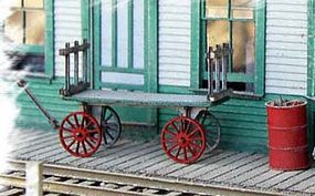 Bar-Mills REA Baggage Cart - Kit O Scale Model Railroad Building Accessory #784