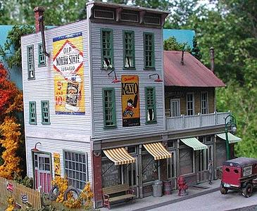 Bar-Mills The Gravely Building - Kit - 6-34/ x 4-3/4 HO Scale Model Railroad Building #882