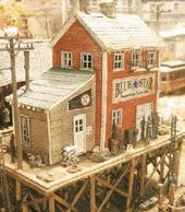 Bar-Mills Waterfront Willys/Trackside Jacks - Kit N Scale Model Railroad Building #921