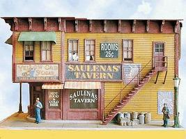 Bar-Mills Saulenas Tavern - Laser-Cut Wood Kit N Scale Model Railroad Building #931