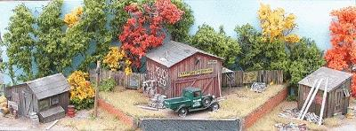 Bar-Mills The Shack Pack - Kit - 3 Different Shacks (3) HO Scale Model Railroad Building #992