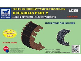 Bronco Duckbills Part 2 for US M4 Sherman Tank Plastic Model Vehicle Accessory 1/35 Scale #03550