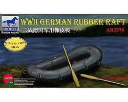 Bronco WWII German Rubber Raft Plastic Model Military Diorama 1/35 Scale #03578