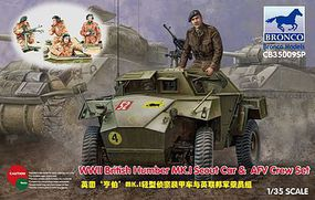 Bronco Humber Mk I Scout Car/AFV Crew Set Plastic Model Military Vehicle Kit 1/35 Scale #35009sp