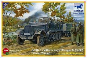 Bronco Sd.Kfz.6 Mityler Zugkraftwagen Plastic Model Halftrack Kit 1/35 Scale #35041