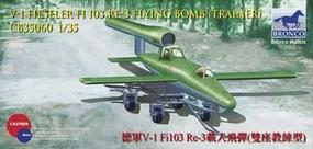 Bronco V-1 Fi103 RE-3 Piloted Flying Bomb Plastic Model Airplane Kit 1/35 Scale #35060