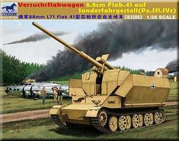 Bronco Versuchsflakwagen 8.8cm Plastic Model Tank Kit 1/35 Scale #35062